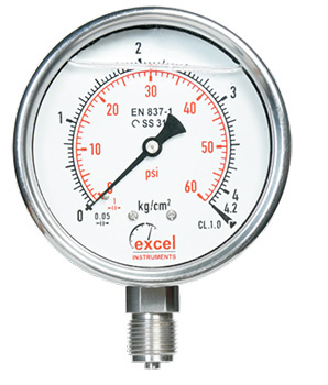 Economical SS (SS 304) Pressure Gauge - Dry Version