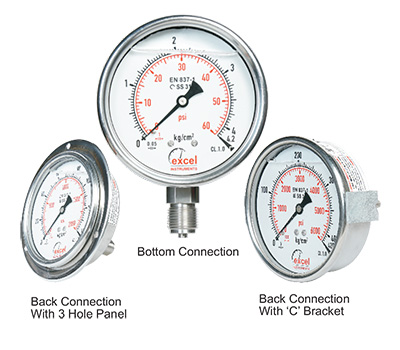 Economical SS (SS 304) Pressure Gauge